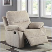 Homelegance Marianna Chair Recliner in Light Beige Chenille