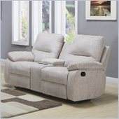 Homelegance Marianna Loveseat Recliner in Light Beige Chenille