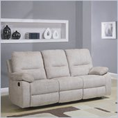 Homelegance Marianna Sofa Recliner in Light Beige Chenille