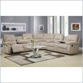 Homelegance Marianna Sectional in Light Beige Chenille