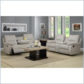 Homelegance Marianna Sofa and Loveseat Recliner Set in Light Beige