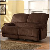 Homelegance Sullivan Loveseat Power Recliner in Dark Brown