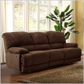 Homelegance Sullivan Sofa Power Recliner in Dark Brown