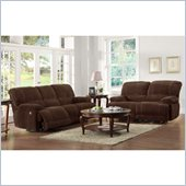 Homelegance Sullivan Sofa and Loveseat Power Recliner in Dark Brown