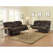 Homelegance Geoffrey Sofa and Loveseat Power Recliner Set in Chocolate