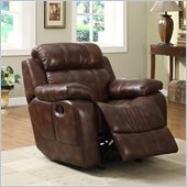 Homelegance Marille Rocking Recliner Chair in Warm Brown