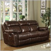 Homelegance Marille Reclining Sofa in Warm Brown Microfiber