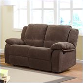 Homelegance Lucienne Reclining Loveseat in Dark Olive