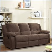 Homelegance Lucienne Reclining Sofa in Dark Olive