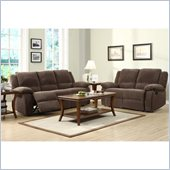 Homelegance Lucienne Reclining Sofa and Loveseat Set in Dark Olive