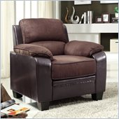 Homelegance Ellie Chair in Dark Brown Microfiber
