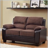 Homelegance Ellie Loveseat in Dark Brown Microfiber