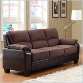 Homelegance Ellie Sofa in Dark Brown Microfiber