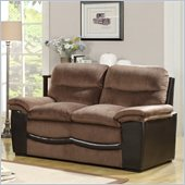 Homelegance Bernard Loveseat in Brown Velvet