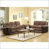 Homelegance Bernard Sofa and Loveseat Set in Brown Velvet