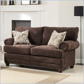 Homelegance Elena Loveseat in Chocolate Chenille