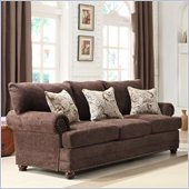 Homelegance Elena Sofa in Chocolate Chenille