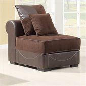 Homelegance Lamont Modular Armless Chair in Chocolate Corduroy