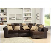 Homelegance Lamont 4 Piece Modular Sectional in Chocolate Corduroy