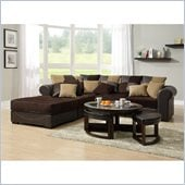 Homelegance Lamont 5 Piece Modular Sectional in Chocolate Corduroy