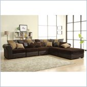 Homelegance Lamont 6 Piece Modular Sectional in Chocolate Corduroy