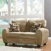 Homelegance Rubin Loveseat in Light Brown