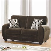 Homelegance Rubin Loveseat in Chocolate