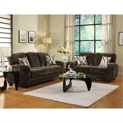 Trent Home Rubin Sofa and Loveseat in Chocolate