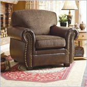 Homelegance Beckstead Chair in Chocolate Chenille