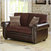 Homelegance Beckstead Loveseat in Chocolate Chenille