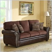 Homelegance Beckstead Sofa in Chocolate Chenille