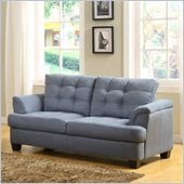 Homelegance St. Charles Loveseat in Blue Grey