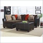 Homelegance Besty 2 Piece Sectional in Corduroy
