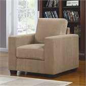 Homelegance Paramus Chair in Brown Corduroy