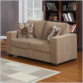 Homelegance Paramus Loveseat in Brown Corduroy