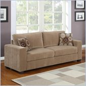 Homelegance Paramus Sofa in Brown Corduroy