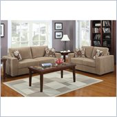 Homelegance Paramus Sofa and Loveseat in Brown Corduroy