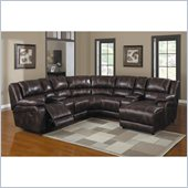 Homelegance The Viewers 7 Piece Sectional in Dark Brown     
