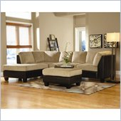 Homelegance The Royce 2 Piece Sectional in Brown Bella