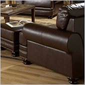 Homelegance Bentleys Chair in Rich Brown Bonded Leather