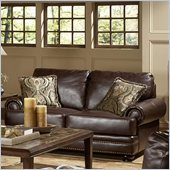 Homelegance Bentleys Loveseat in Rich Brown Bonded Leather