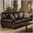 ADD TO YOUR SET: Homelegance Bentleys Sofa in Rich Brown Bonded Leather