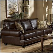 Homelegance Bentleys Sofa in Rich Brown Bonded Leather
