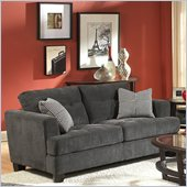 Homelegance Maya Loveseat in Grey Chenille