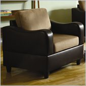 Homelegance Anthony Chair in Brown and Dark Brown
