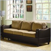 Homelegance Anthony Sofa in Brown and Dark Brown