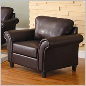 Homelegance Levan Chair  in Dark Brown Vinyl