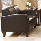 Homelegance Allen Loveseat in Dark Chocolate