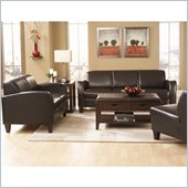 Homelegance Allen 3 Piece Sofa Set in Dark Chocolate
