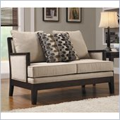 Homelegance Dalton Loveseat in Beige
